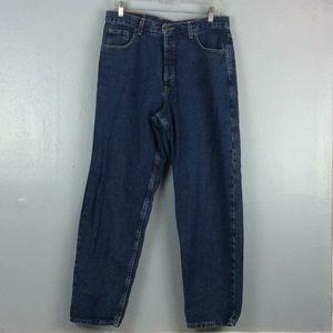 Eddie Bauer Womens Button Fly Jeans Sz 14 Petite